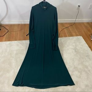 Linda Lundstrom Basic Dress Women Green Maxi Sz16